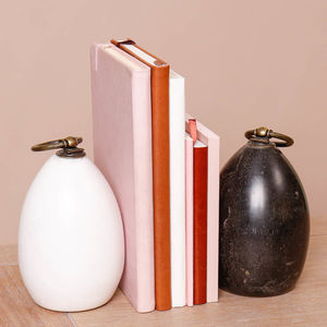 Contemporary Marble Bookends - bookends