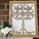Personalised Grandparent's Framed Wooden Family Tree