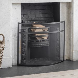 Curved Black Firescreen