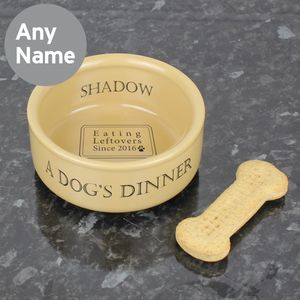 Personalised Dog Bowl - dogs