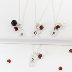 Personalised Birthstone Necklace - birthstone jewellery gifts