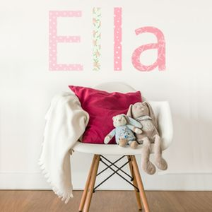 Name Letter Fabric Wall Stickers - children's room
