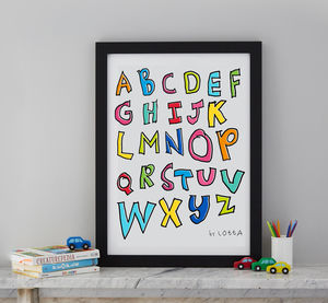Personalised Alphabet Or Quote Of Your Child's Writing - baby's room