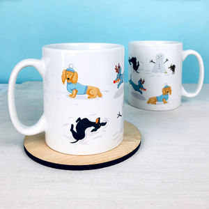 Dachshund Winter Fun Mug