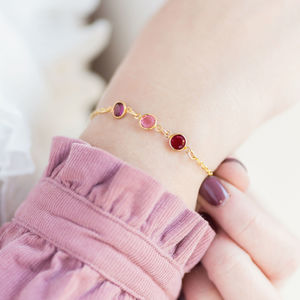 Gold Family Birthstone Bracelet - personalised gifts