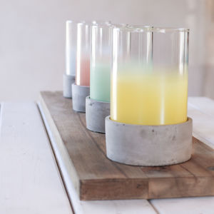 Cement Candle Holder, Four Colours - candles & home fragrance