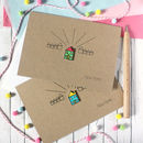 Personalised New Home Card, Bright Little House