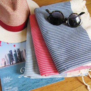 Large Pure Cotton Goa Beach Hammam Towel