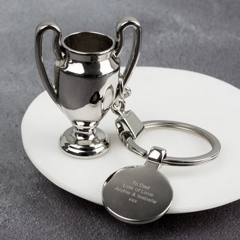 Trophy Keyring With Charm