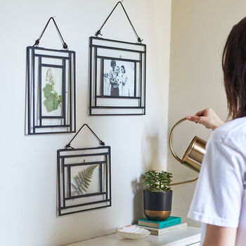 Black Wall Hung Glass Frame