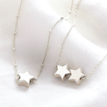 Sterling Silver Star Bead Necklace