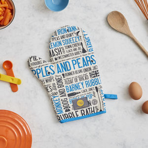 Cockney Rhyming Slang Oven Mitt - kitchen