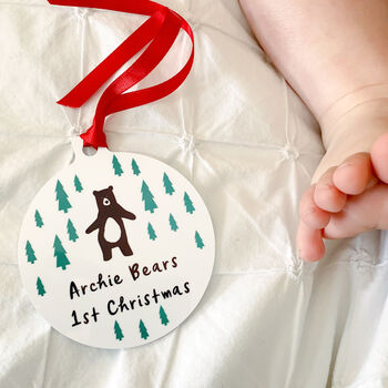 Woodland Babies 1st Christmas, Tree Decoration
