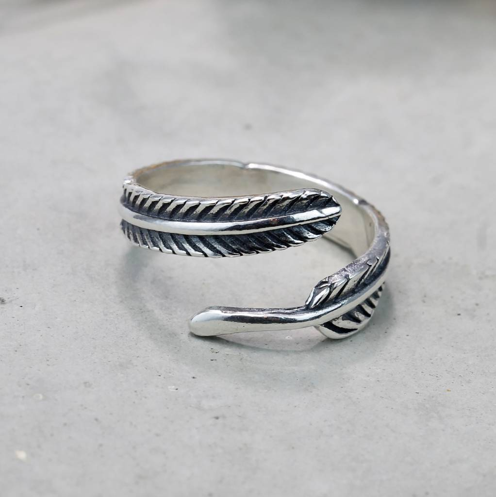 Handmade Feather Ring