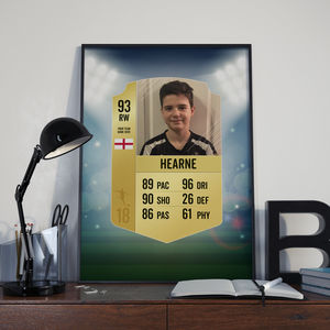 Personalised Football Card Print