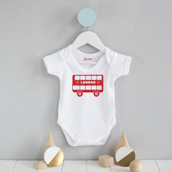 London Bus baby grow (size 0-3 and 3-6 months)
