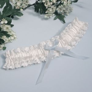 Ivory Lace And Silk Wedding Garter Florencia - wedding fashion