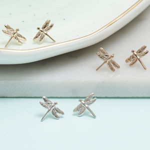 Dragonfly Stud Earrings For Life - jewellery sale