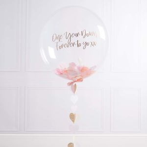 Personalised Paper Anniversary Confetti Filled Balloon - hen party gifts & styling