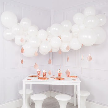 Baby Shower Balloon Cloud Kit With Raindrop Garlands