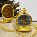 Personalised Pocket Watch Gold Full Hunter