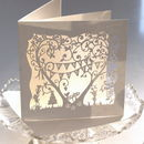 Pearl Wedding Anniversary Laser Cut Card