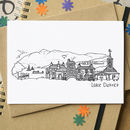 Lake District Landmarks Greetings Card