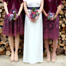 Bespoke Bridesmaid Dresses In Rosewood Lace