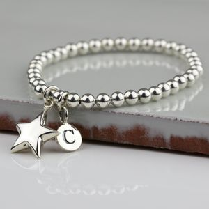 Personalised Children's Silver Star Bracelet - wedding fashion