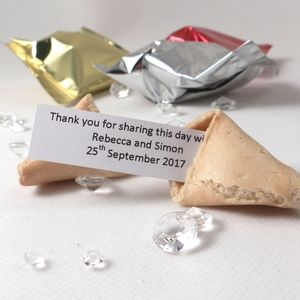 300 Personalised Wedding Fortune Cookie Wedding Favours - edible favours