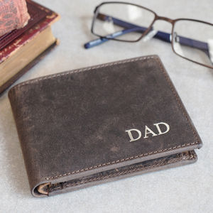 Personalised Handmade Buffalo Men's Leather Wallet - wallets & money clips