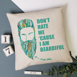 Personalised Beard Cushion Cover