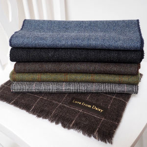 Personalised 'Love From' Lambswool Scarf - men's accessories