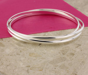 Natasha Silver Russian Wedding Bangle - bracelets & bangles