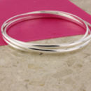 Natasha Silver Russian Wedding Bangle