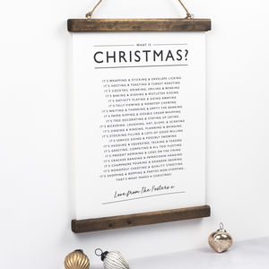 Christmas Poem Print - christmas home accessories