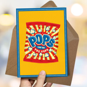 Dad 'Dad Pops' Card - funny cards