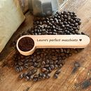 Personalised Measuring Coffee Scoop With Clip