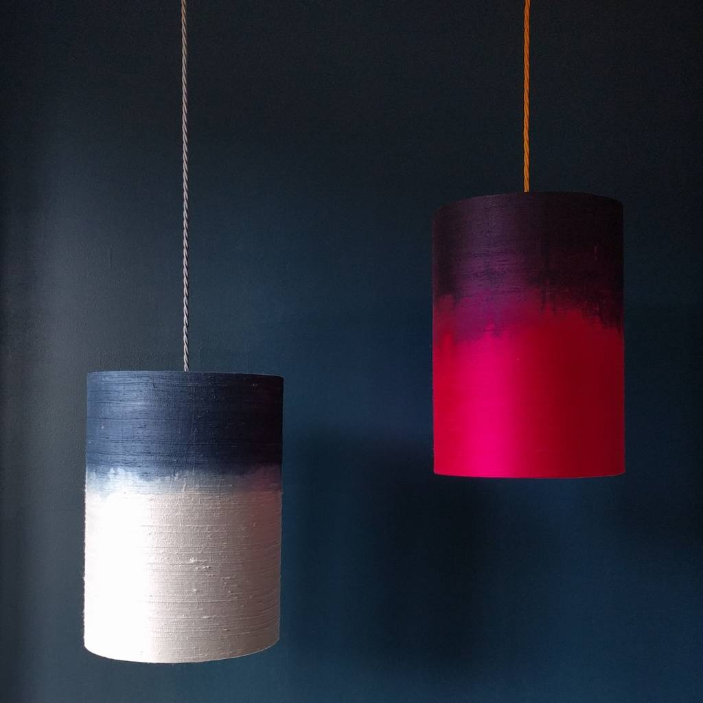 Silk dip dyed ombre pendant lampshades by beauvamp silk dip dyed ombre pendant lampshades aloadofball Image collections