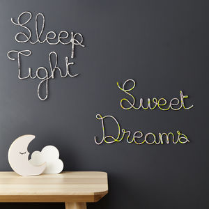 Sweet Dreams Or Sleep Tight Liberty Signs - decorative accessories