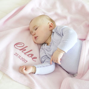 Personalised Baby Pink Fleece Blanket - baby's room
