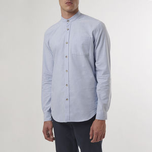 Pale Blue Grandad Shirt