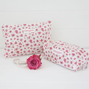 Personalised Washbag And Make Up Bag