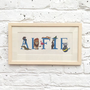 Personalised Baby And Children Name Print