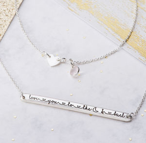 Love You To The Moon And Back Necklace - necklaces & pendants