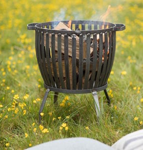 Industrial Fire Pit In Two Sizes - fire pits & outdoor heating