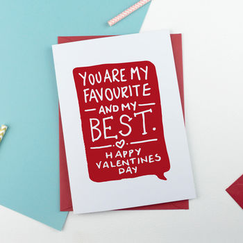 'You Are My Best' Valentine's Card