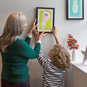 Personalised Portrait Print From Your Child's Drawing - gifts for grandfathers