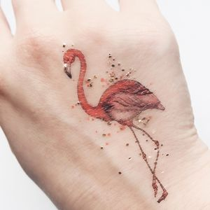 Mini Flamingo Temporary Tattoo - view all new