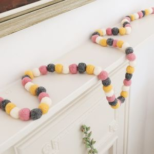 Felt Pom Pom Garland - decorative accessories
